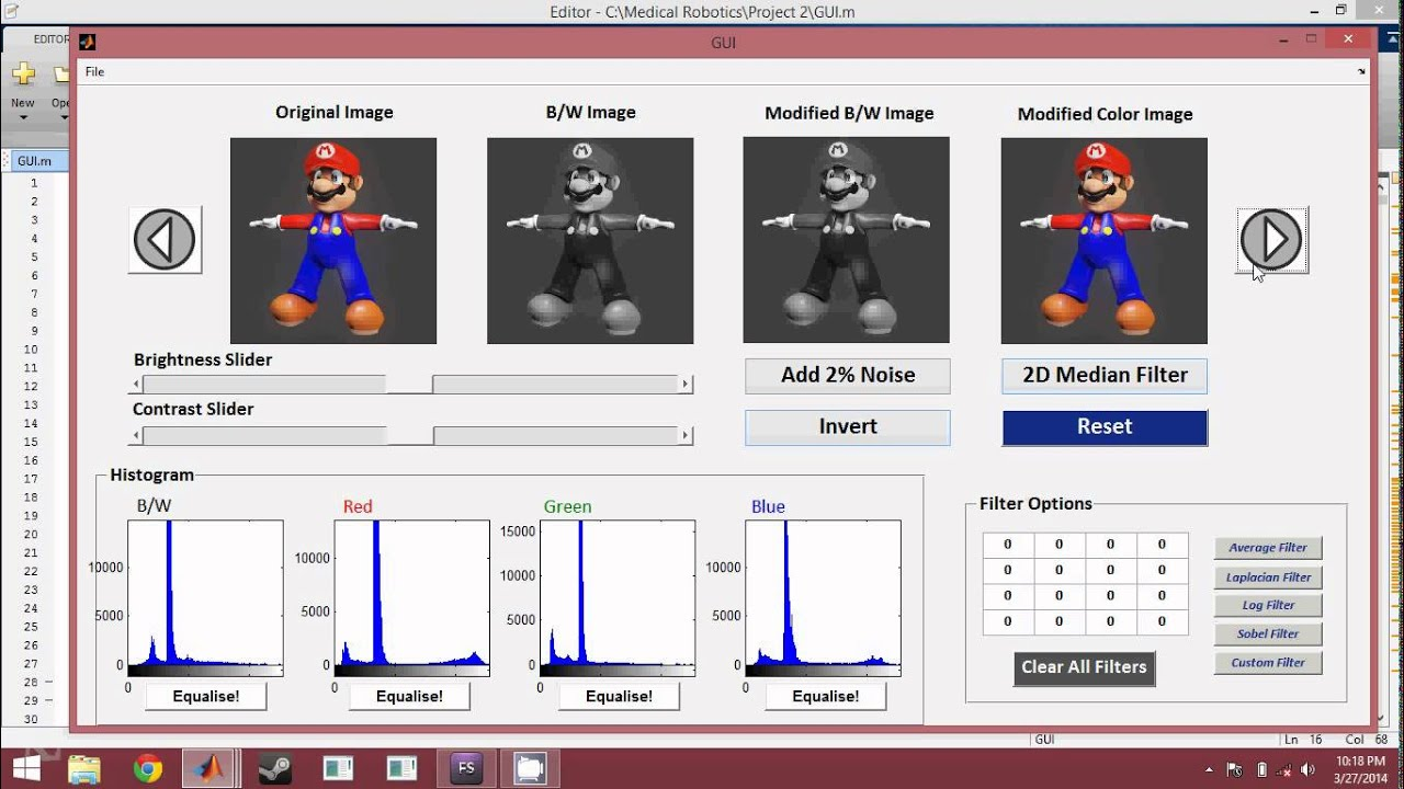 MATLAB IMAGE PROCESSING TOOLKIT + GUI - part1
