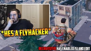 72hours get killed by *FLYING HACKER* | Fortnite Clips