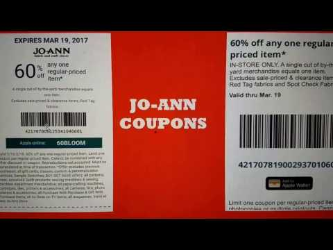 🎀 JO-ANN 60% OFF COUPONS 🎀