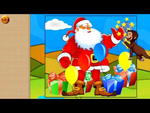 Jingle Bells Christmas song Children Puzzles with Monkey George