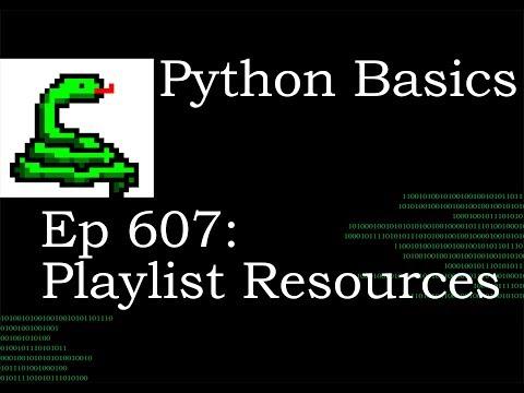 Python Basics Tutorial Playlist Resources thumbnail