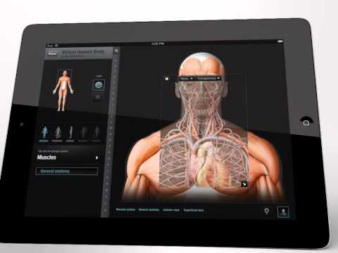 Virtual Human Body - application for iPad