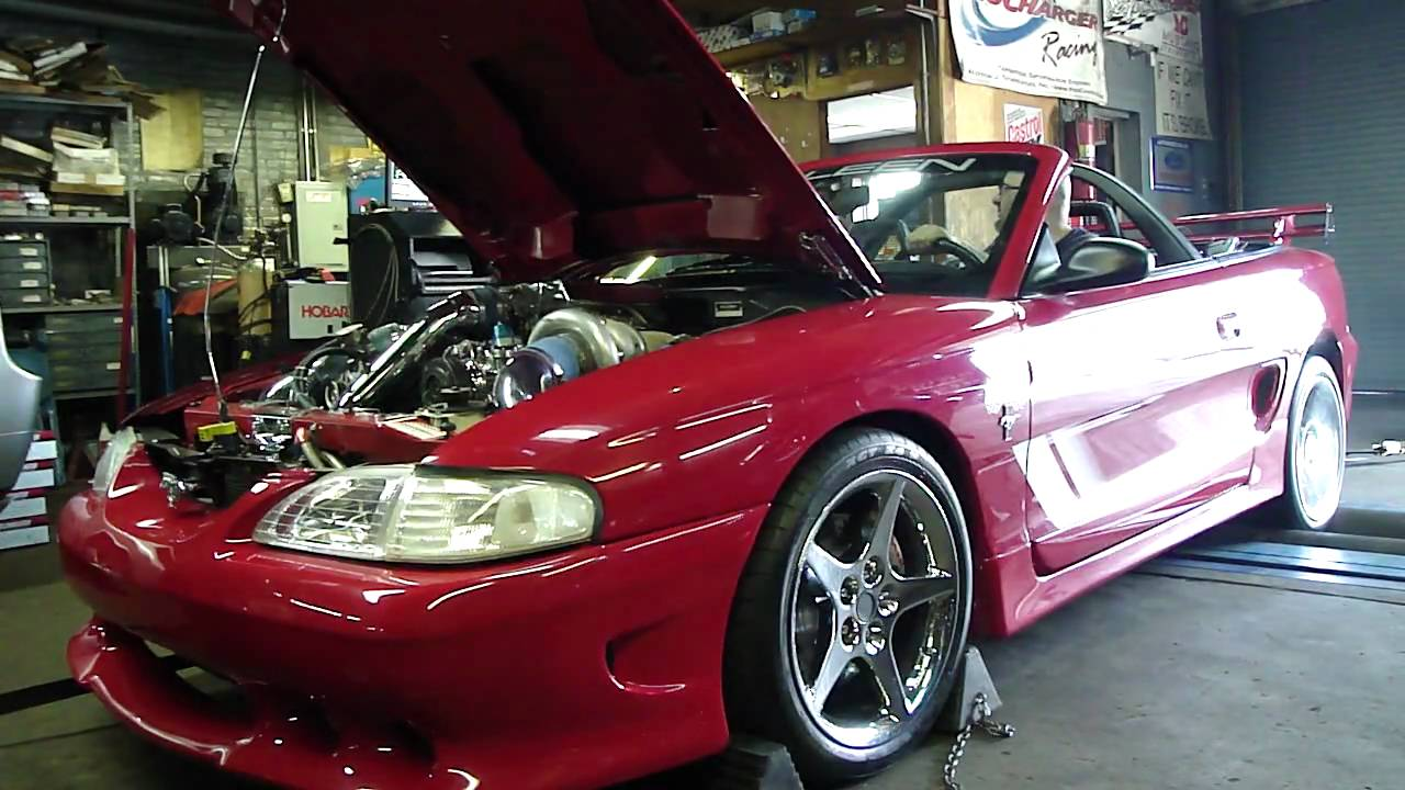 1995 mustang twin turbo dynoed