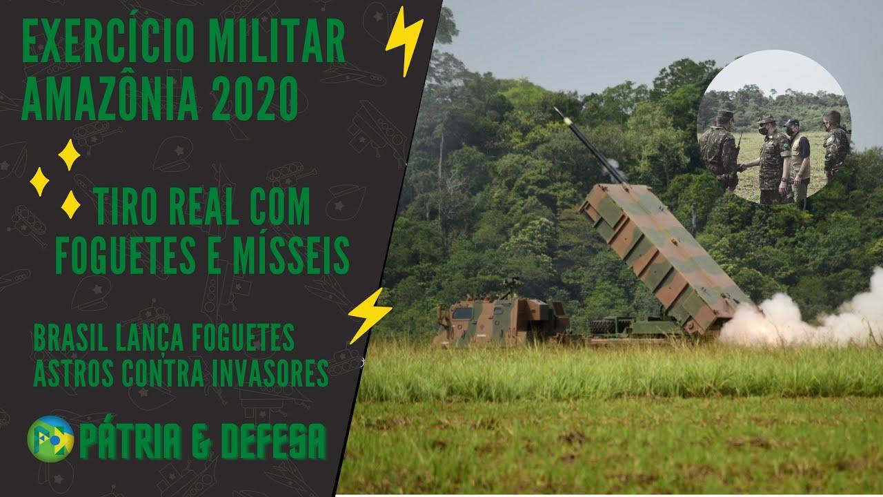 EXÉRCITO BRASILEIRO  DISPARA FOGUETES E MÍSSEIS DO SISTEMA ASTROS, CONTRA INVASORES DA AMAZÔNIA!