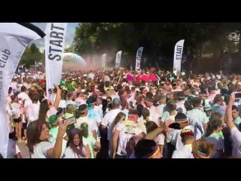 Départ The Color Run Lausanne 2015 & Silhouette Sports Club