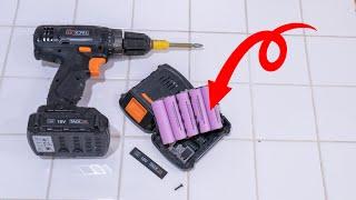 【DIY】充電ドライバーのバッテリー修理