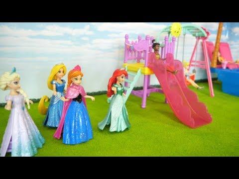 Disney Princess holiday story pool & cinema Princess Ana, Elsa, Ariel, Rapunzel