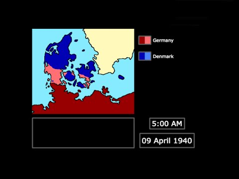 [WWII] The German Invasion of Denmark (1940): Every Hour