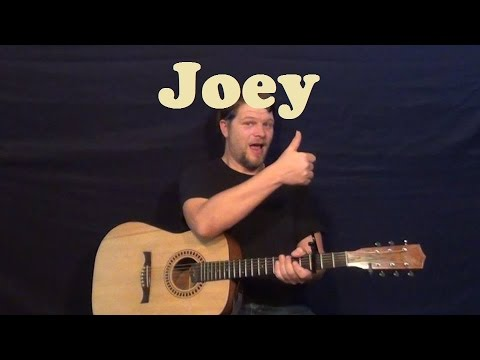 Joey (Concrete Blonde) Easy Guitar Lesson Strum Chords Licks How to Play Tutorial