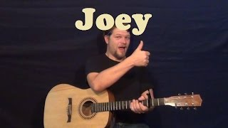 Joey (Concrete Blonde) Easy Guitar Lesson Strum Chords Licks How to Play Tutorial | MunsonMusicLive