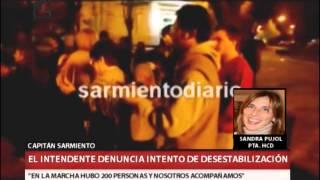 QM NOTICIAS - CAPITAN SARMIENTO - EL INTENDENTE DENUNCIA INTENTO DE DESESTABILIZACION - SANDRA PUJOL 2017 Video