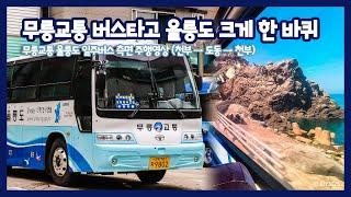 울릉도 무릉교통 일주버스 전구간 측면 주행영상