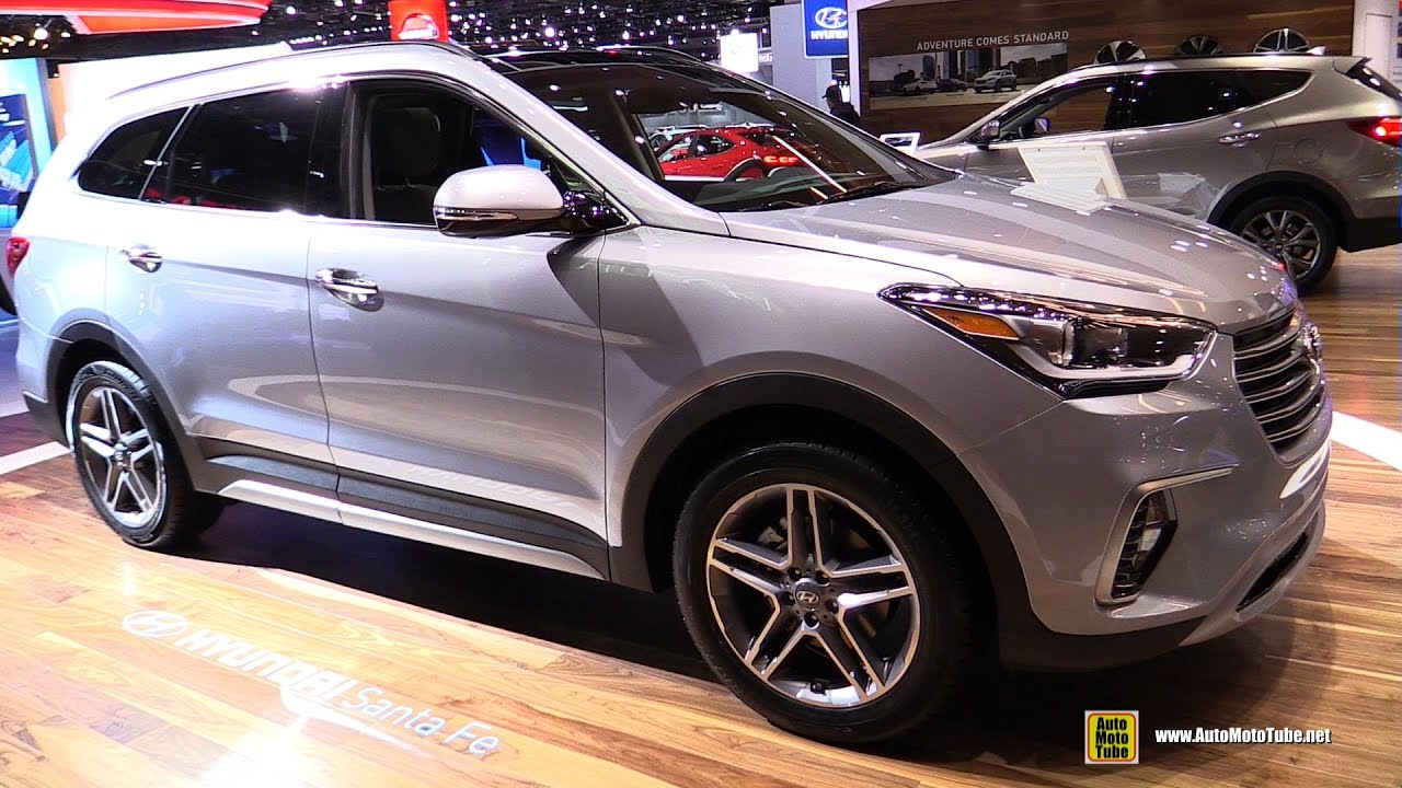 2017 hyundai santa fe limited exterior and interior walkaround 2017 detroit auto show youtube. Black Bedroom Furniture Sets. Home Design Ideas