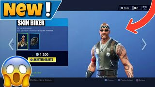 HOW TO THE NEW SKIN BIKER FREE ON FORTNITE 💶