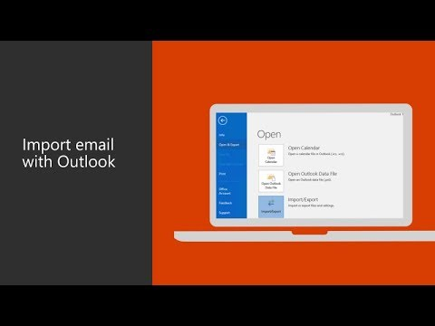 How to import business email with Microsoft Outlook 2016