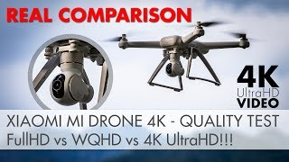 Xiaomi Mi Drone 4k - Video Quality Comparison! TRUTH TEST - 1080p vs 1440p vs 2160p [4K UltraHD]