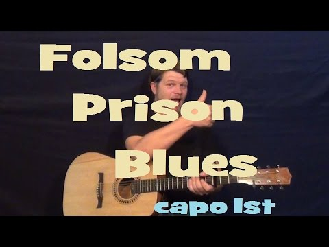 Folsom Prison Blues (Johnny Cash) Easy Strum Guitar Lesson - How to Play Country Feel