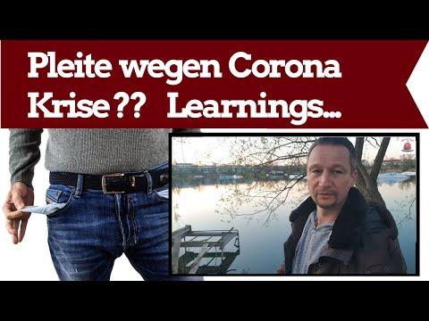 Pleite wegen Corona Krise??  - Was tun?? Learnings...
