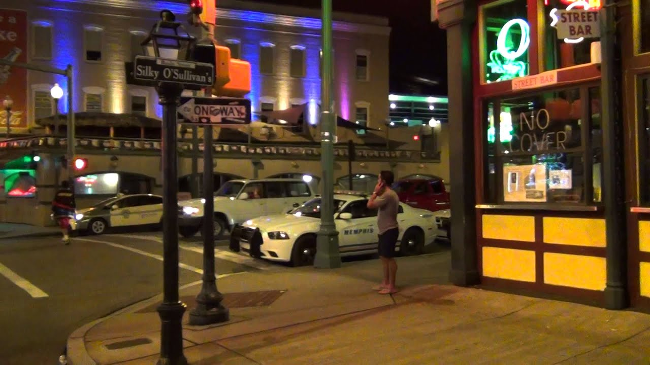 beale street in downtown memphis tennessee youtube