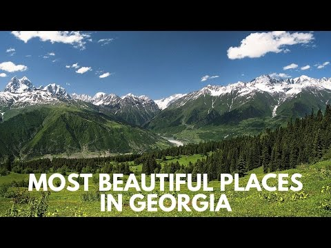 Georgia travel: Top 4 beautiful places in Georgia. Unknown pearls of Europe. Travel to Georgia.