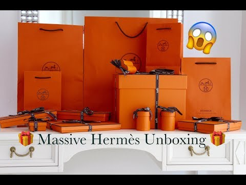 Massive Hermes Unboxing | New Hermès Accessories Release | Picotin Lock 18 Bag | Rodeo | Twillies