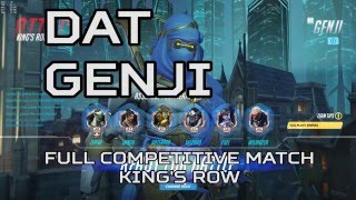 Overwatch gameplay - genji full competitive match map King's Row thumbnail