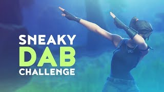 SNEAKY DAB CHALLENGE (Fortnite Battle Royale)