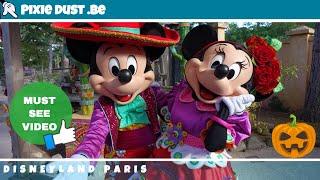 🎃 Mariachi Mickey & Minnie Mouse Meet and greet in Disneyland Paris for Halloween Season 2018