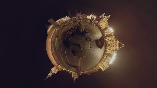 DigitalVDay: 360 video from atop Russian Tiger APC during night rehearsals