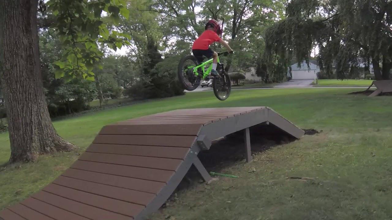 Backyard Bmx Jumps backyard mountain bike jump trail - julian 5 years old - youtube