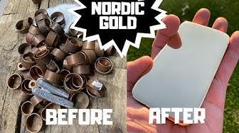 Nordic Gold Bar Casting From Scrap - Trash To Treasure - ASMR Metal Melting