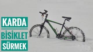 Kaza Yaptım (hasar yok) | Karda Bisiklet Sürmek