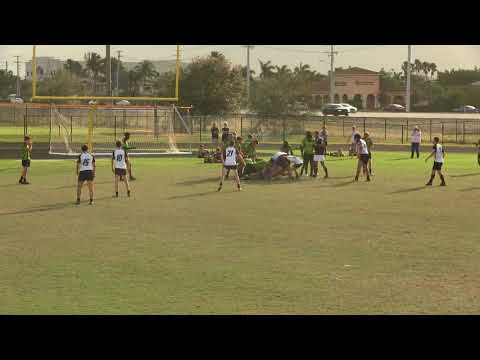 Okapi Wanderers Rugby FC U17 vs Wellington Wizards U17 01 27 2018 at Emerald Cove Middle School.