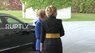 Germany: Merkel welcomes Slovakia's president Caputova in Berlin