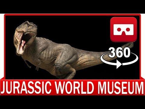 360° VR VIDEO - Jurassic World Museum Dinosaurs Experience- Jurassic Park | VIRTUAL REALITY