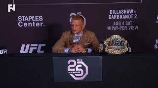 UFC 227: TJ Dillashaw Post-Fight Press Conference
