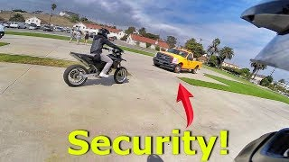 SUPERMOTO VS SECURITY!!