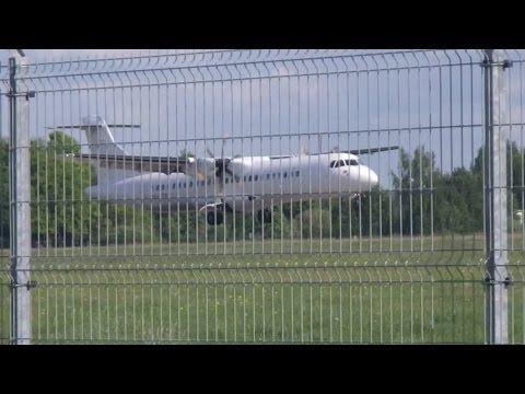Nordic Regional Airlines ATR 72-500 landing in Tartu airport