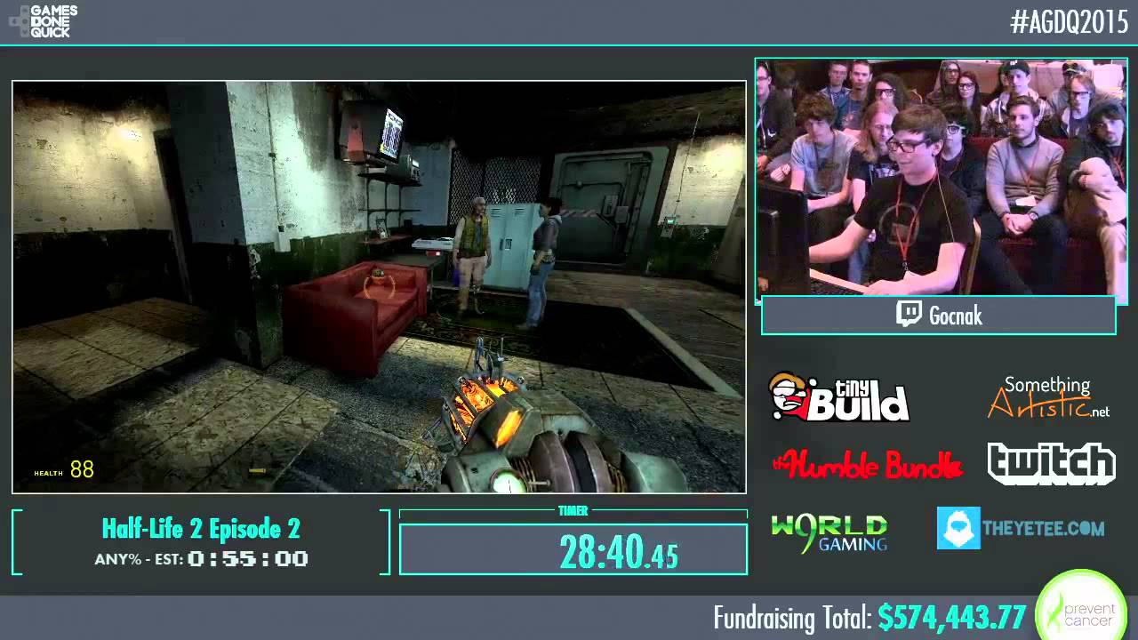 Awesome Games Done Quick 2015 Part 137 Half Life 2
