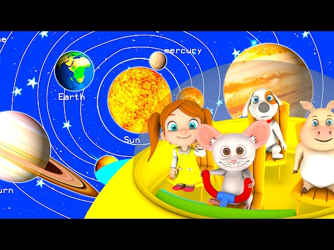 The Solar System Song | Kindergarten Nursery Rhymes & Songs for Kids | Little Treehouse S03E27