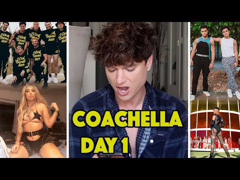 ROASTING YOUTUBERS *COACHELLA* DAY 1 OUTFITS! (Dolan Twins, David Dobrik, James Charles) thumbnail