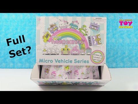Hello Sanrio Kidrobot Micro Vehicle Series Full Box Vinyl Figure Opening | PSToyReviews