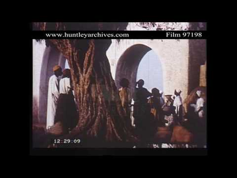 Kano in Northern Nigeria.  City gates, 1950's.  Archive film 97198