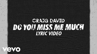 Craig David - Do You Miss Me Much (Lyric Video)