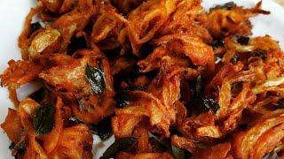 Onion pakoda | ಈರುಳ್ಳಿ ಪಕೋಡ | Eerulli pakoda | best tea time snack recipes | Indian Veg recipes