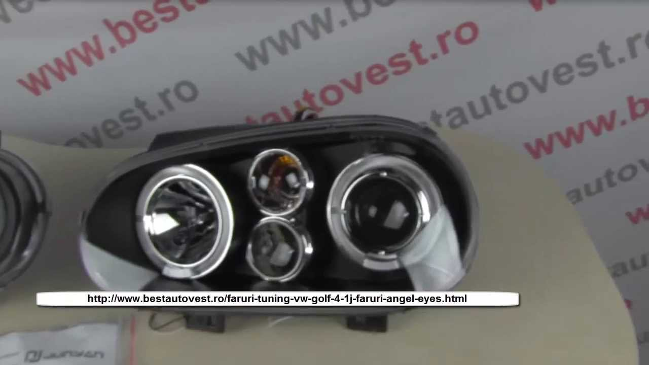 Tuning Vw Golf 4, Angel Eyes Smoke with Magnifying Glass-9299