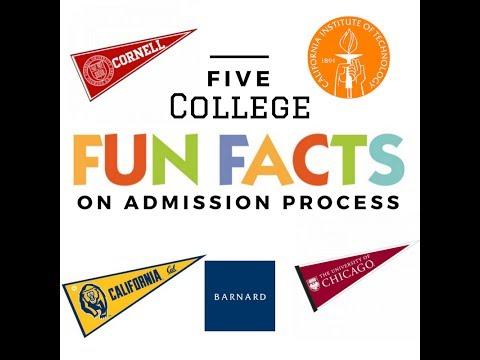 Top 5 Fun Facts on College Admission - Cornell, Cal Tech, Berkeley, Barnard, UChicago