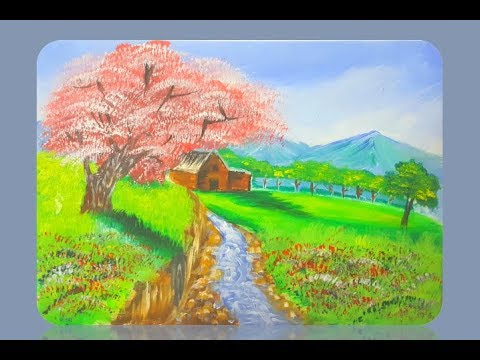 Acrylic Landscape Painting Lesson by Mohsin art