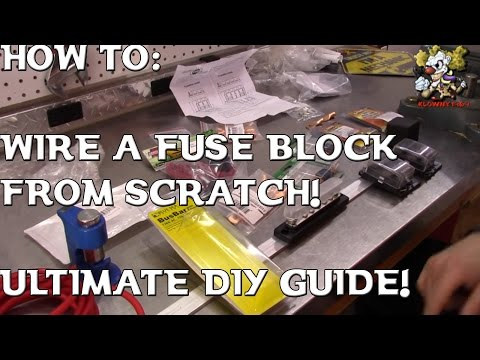How To Wire A SWITCHED Fuse Block From Scratch !! (ULTIMATE