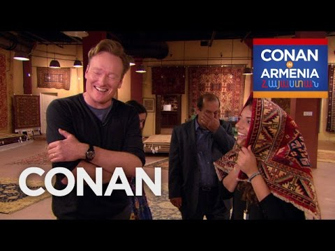 Conan Buys Sona's Family A Rug  - CONAN on TBS